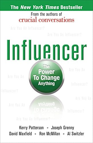 Picture of best-selling book, Influencer: The Power to Change Anything
