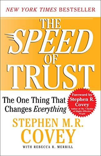 Picture of New York TImes best-selling book, The Speed of trust