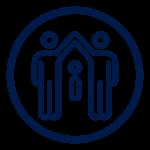 Icon blue family