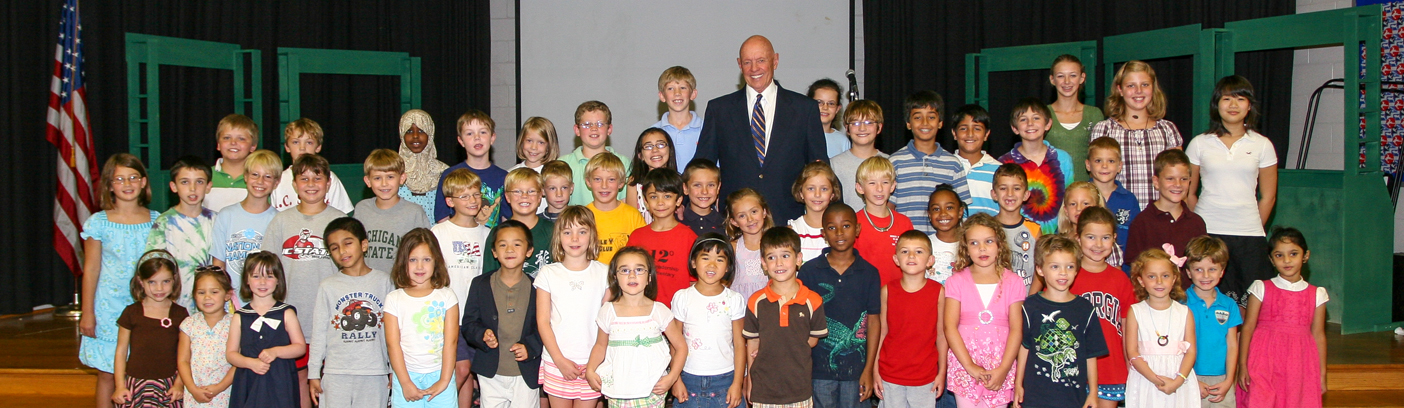 Stephen Covey at AB Combs Elementary