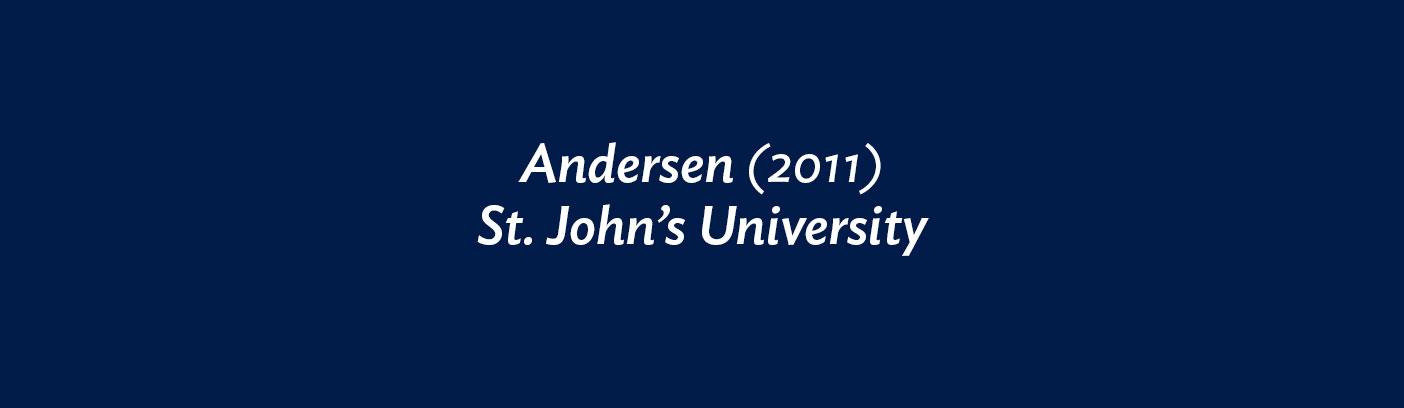 Andersen (2011) St. John's University