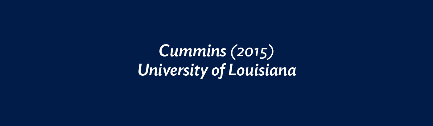 Cummins (2015) University of Louisiana