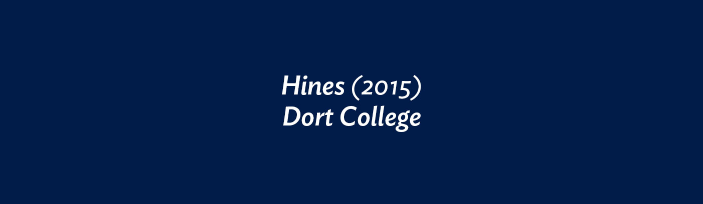 Hines (2015) Dort College