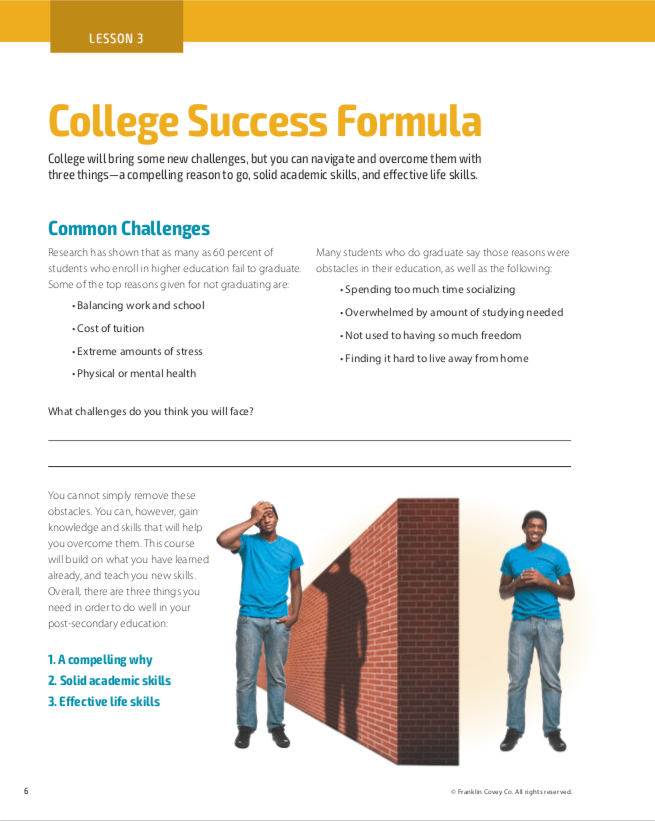College readiness lesson3