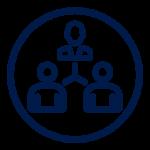 Icon blue empower circle