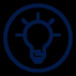 Icon blue genius circle