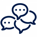 Icon blue leader