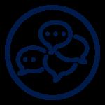 Icon blue leader circle