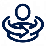 Icon blue whole