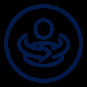 Icon blue whole circle