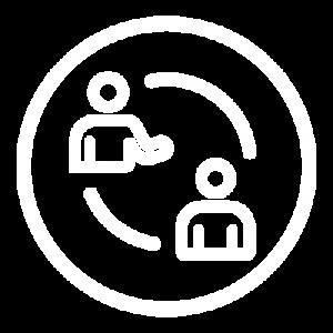 Icon white change circle