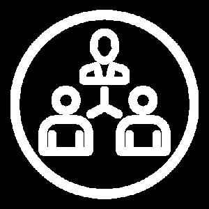 Icon white empower circle