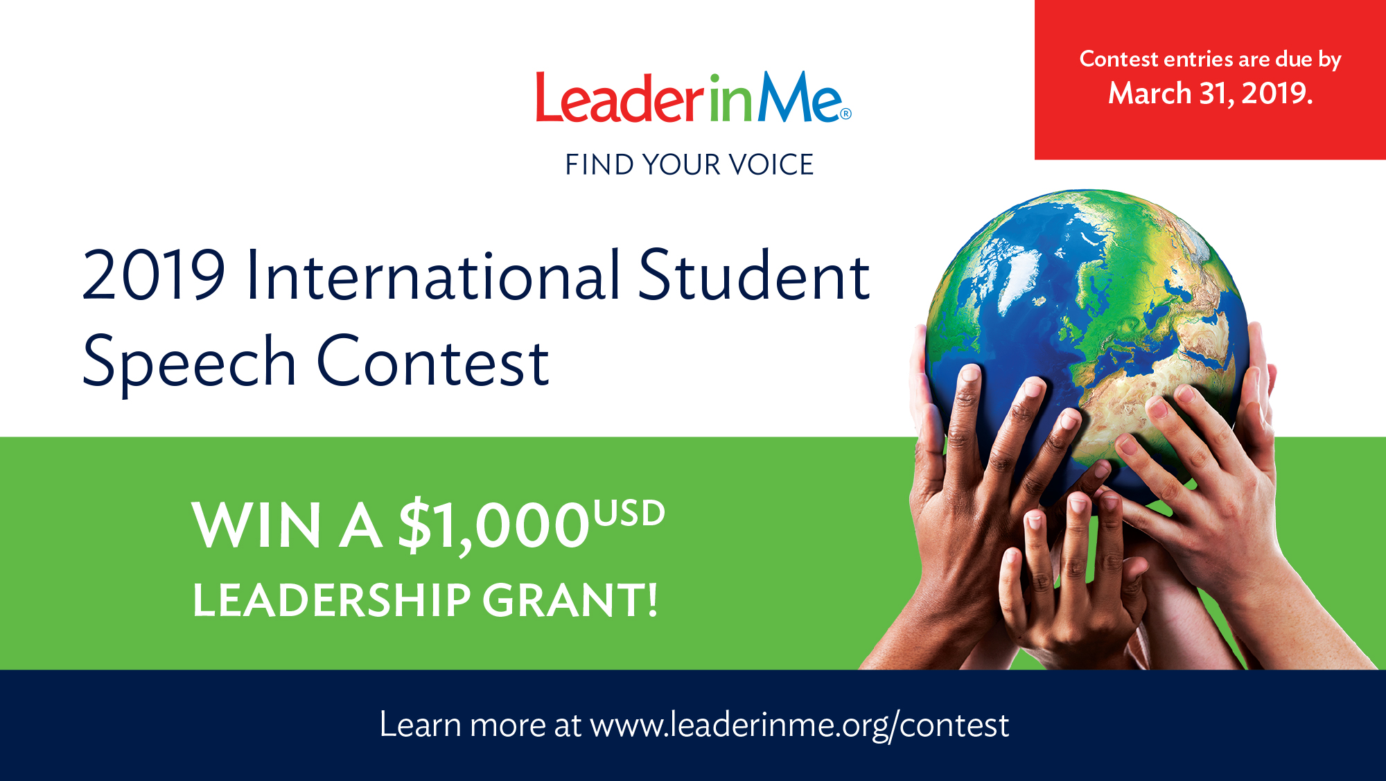 Leader in Me's 4th Annual International Student Speech Contest