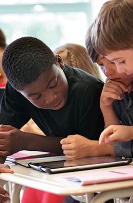 Timeline elementarystudent collaborating