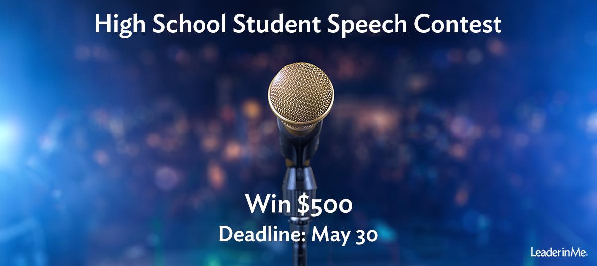 high school speech contest